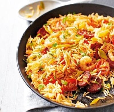 Chorizo and prawn rice LGH v2 236ed812 e5e2 4d8b 9e09 92ea00e2502d 0 1400x919 600