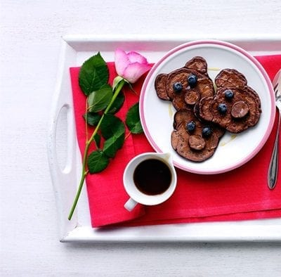 Mini chocolate teddy bear pancakes with syrup LH a79160ae 1ead 4f2a a515 41eabf90d099 0 1400x919