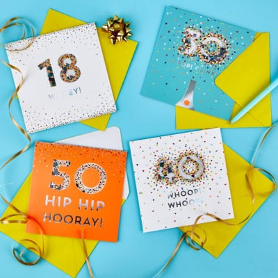NEW special age cards, gifts and wrap at Card Factory